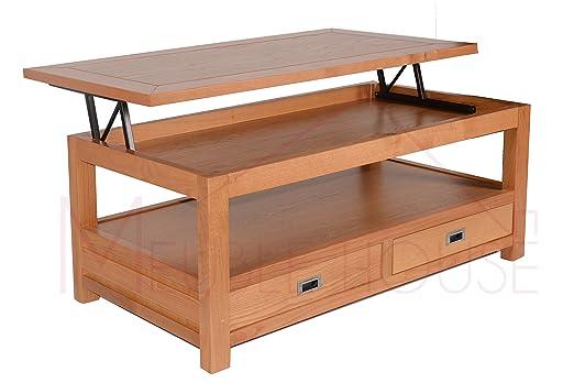Snack salón mesa de roble macizo Virginia Mueble House: Amazon.es ...