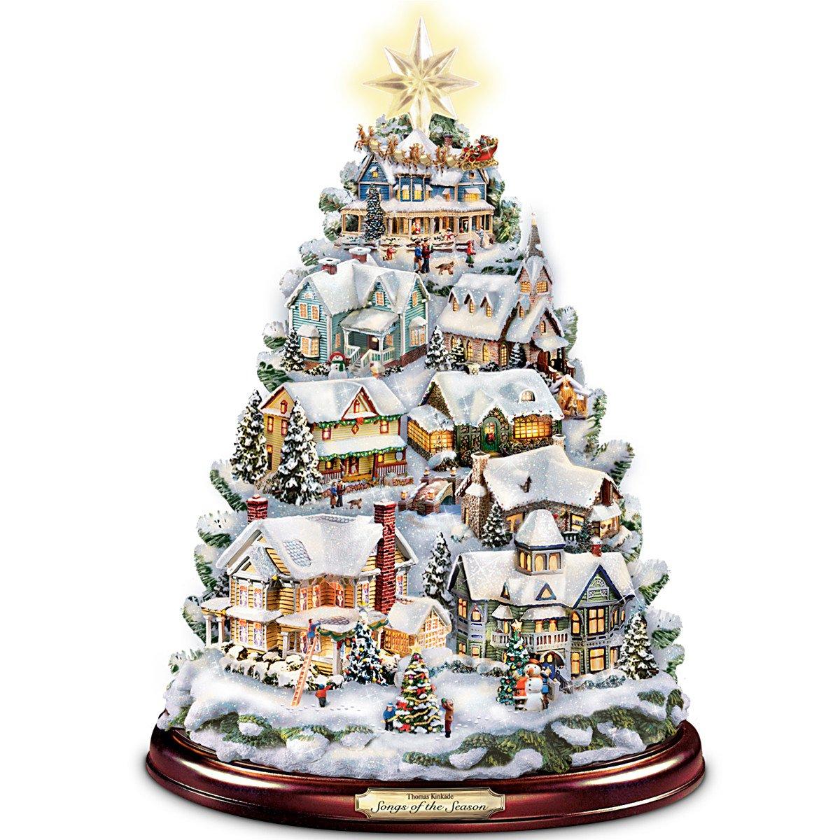 Amazon.com: Thomas Kinkade Christmas Tabletop Tree: Songs Of The ...