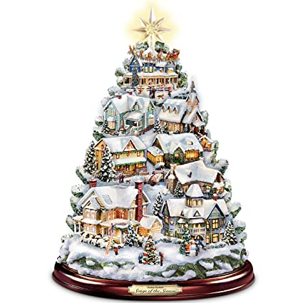 Image Unavailable. Image not available for. Color: Thomas Kinkade Christmas  Tabletop Tree: ... - Amazon.com: Thomas Kinkade Christmas Tabletop Tree: Songs Of The