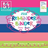 2018 Reminder Binder Large Grid Planning Wall Calendar