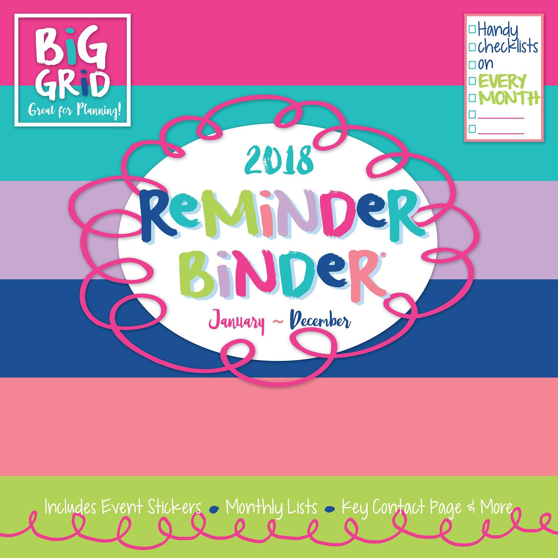 Download 2018 Reminder Binder Large Grid Planning Wall Calendar pdf epub