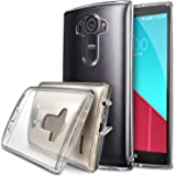 LG G4 Case, Ringke [Fusion] Crystal Clear PC Back TPU Bumper w/ Screen Protector [Drop Protection/Shock Absorption Technology][Attached Dust Cap] For LG G4 - Crystal Clear
