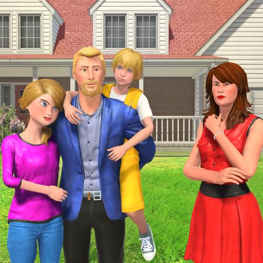(Virtual Family Step Mom Kids Home)