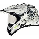 Broken Head Fullgas Viking matt weiß Enduro Helm (S (55-56 cm)) - Motorradhelm - MX Helm - Cross Helm