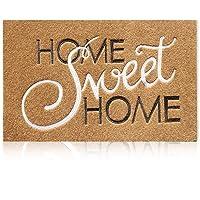 Door Mat Outdoor Front Door Home Sweet Home Welcome Doormat with Non Slip Rubber Backing Ultra Absorb Mud Indoor Mats…