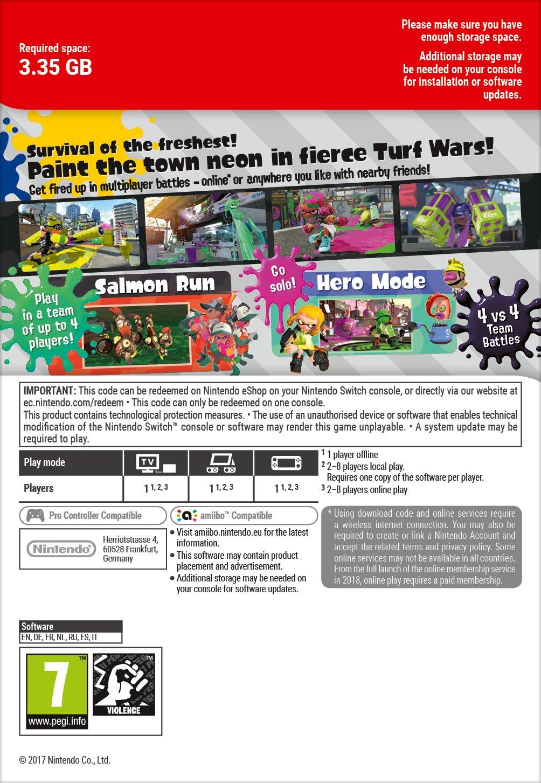 Splatoon 2 [Switch Download Code]: Amazon co uk: PC & Video Games