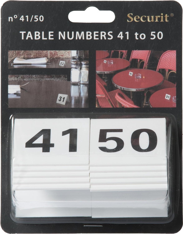 Securit Table Signes 4/x 4/x 5/cm chiffres 1 Tn-1/–10 10