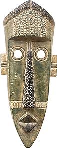 NOVICA Decorative Wood Mask, Gray