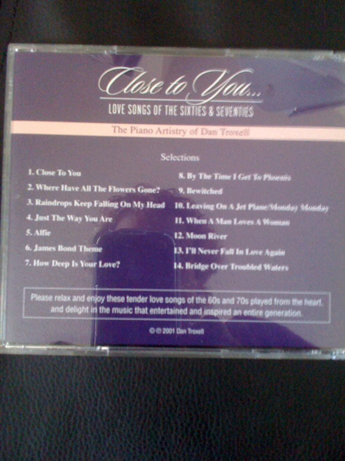 Dan Troxell - Close to You - Love Songs of the Sixties and