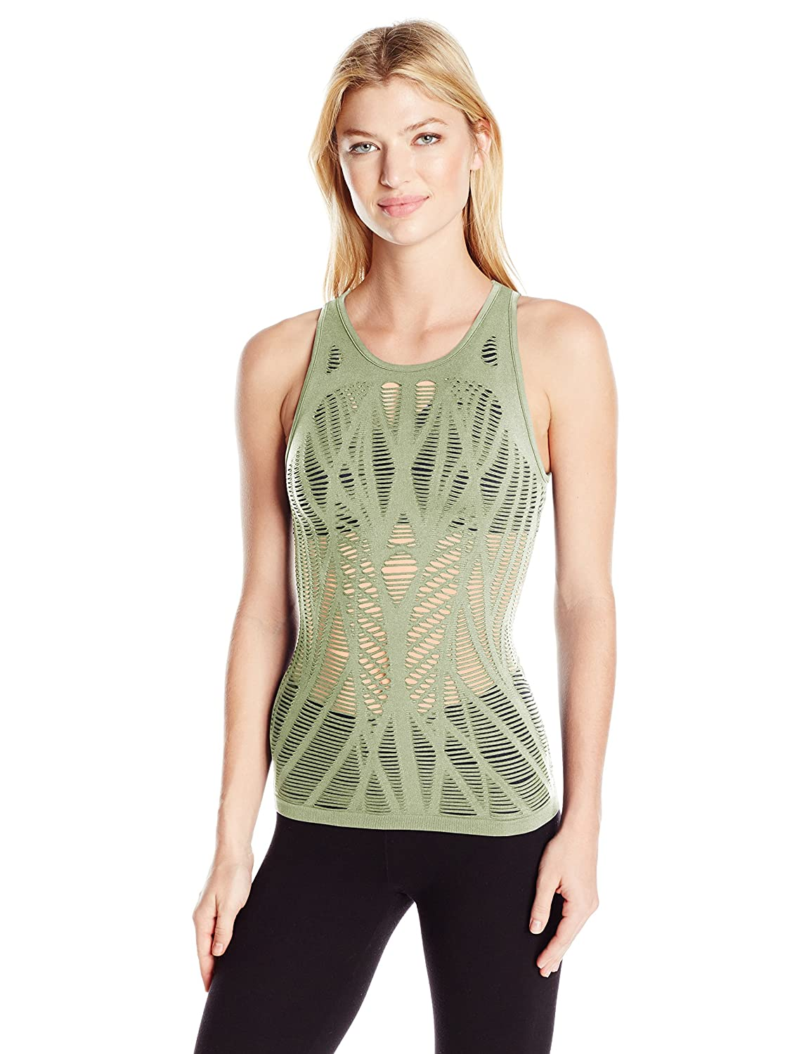 Icicle Alo Yoga Womens Vixen Fitted Muscle Tank Shirt