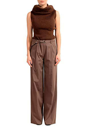 5d1232b6e2f0a Image Unavailable. Image not available for. Color  Maison Margiela MM6 Wool Brown  Sleeveless Turtleneck Women s ...