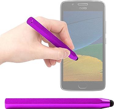 DURAGADGET Lápiz Stylus Morado para Smartphone Intex Aqua S9 Pro/Landvo XM200 Pro/Motorola Moto G5 Plus, Moto G5 / OUKITEL U15 Pro/ZTE Axon Pro, Blade V8 Mini: Amazon.es: Electrónica