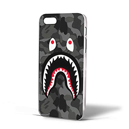 Amazon Com Bape Shark Black Army Pattern For Iphone Case Iphone  S White Cell Phones Accessories