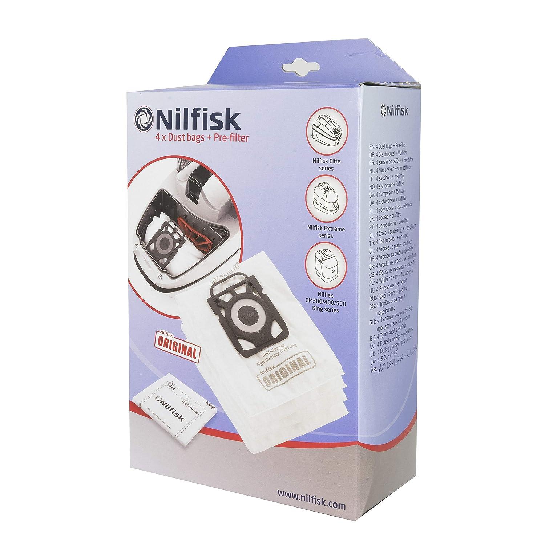 Nilfisk 107407940 - Bolsas aspirador, color blanco: Amazon ...