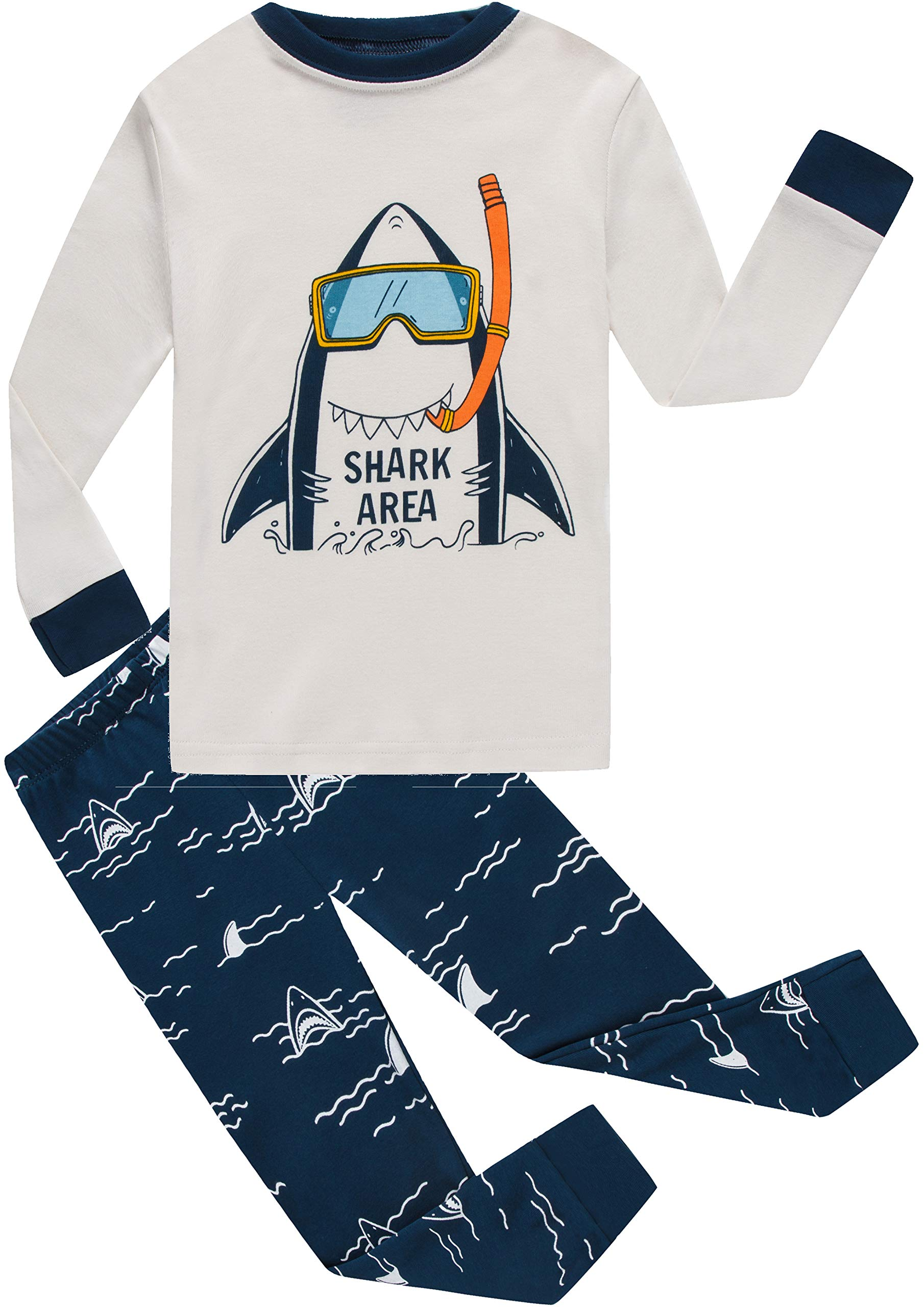Boys Shark Pajamas Little Boys Toddler PJs Clothes Shirts & Pants Kids Sleepwear Size 5 by shelry (Image #1)