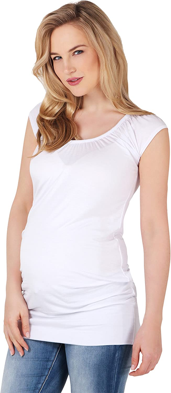 KRISP/® Damen Basic Longshirt Oberteil T-Shirt Top