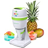 Nostalgia ESHVICE2HSI Electric Hawaiian Shave Ice & Snow Cone Maker, Includes Reusable Cup and Two Molds, Stainless Steel Bla
