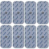 8 Stück Druckknopf - Elektroden / Pads, 50x100mm groß, passend zu TENS - EMS Geräten: Sanitas SEM 40,41,42,43,44 u. Beurer EM 40 / EM 41 / EM 80