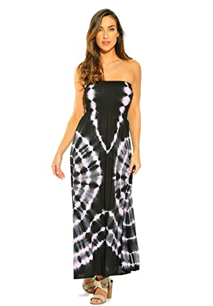 Riviera Sun Strapless Tube Maxi Dress / Summer Dresses at Amazon ...