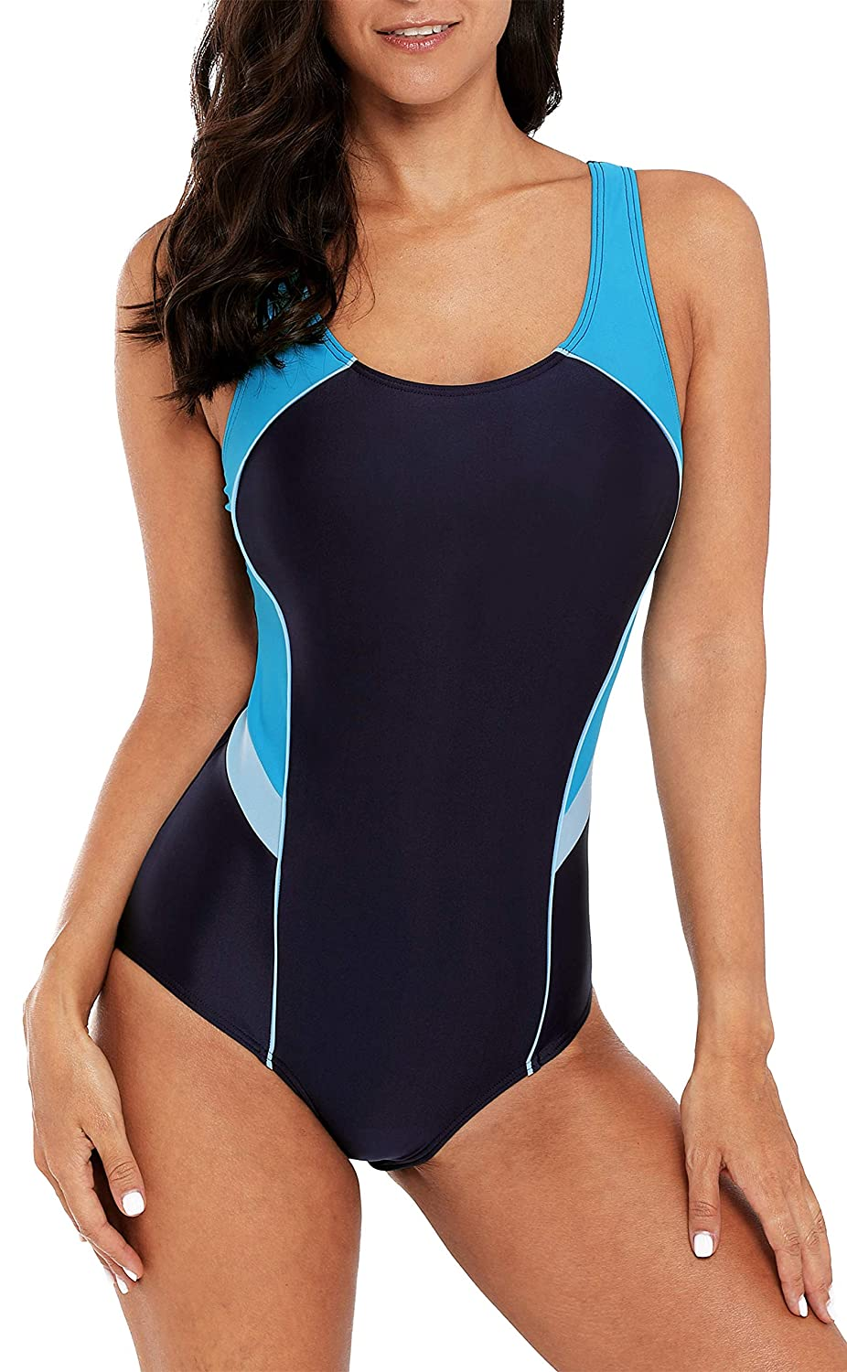 beautyin Womens Athletic One Piece Swimsuits Racerback Competitive Bathing Suit