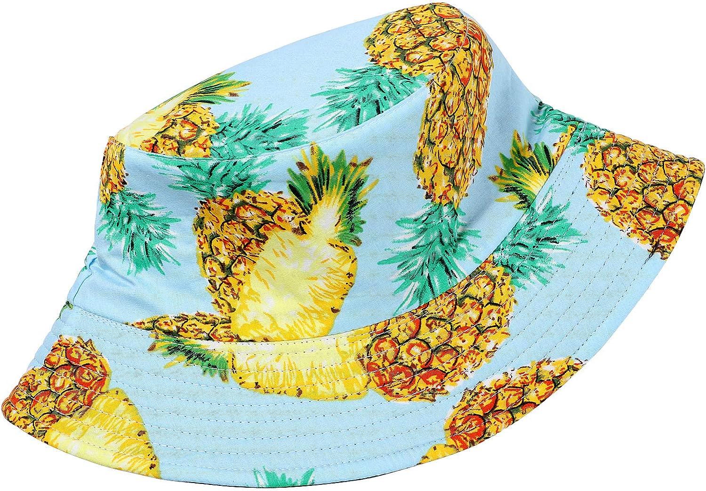 Tacobear Unisex Pescador Sombrero Bucket Hat con Estampado de Frutas Sombrero de Sol Aire Libre Plegable Gorra Protecci/ón contra Sol UV para Hombre y Mujer