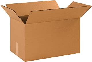 """product image for Partners Brand P171010 Long Corrugated Boxes, 17""""L x 10""""W x 10""""H, Kraft (Pack of 25)"""