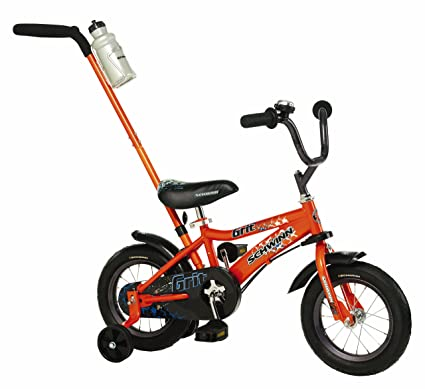 amazon com schwinn boys 12 inch grit bike orange childrens