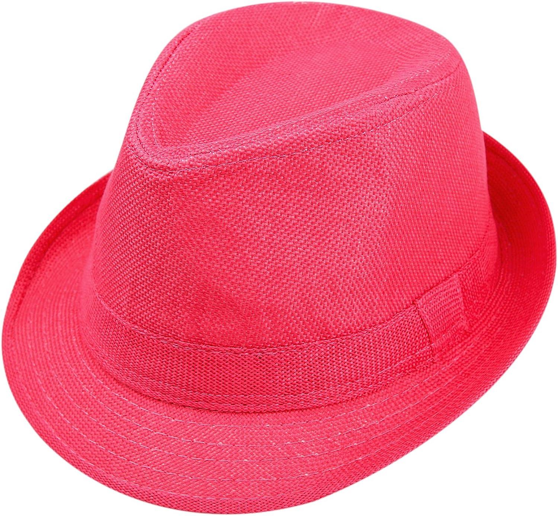 Hot Pink Alizeal Children Suspender 1 Inch and Bow Tie Hat Set