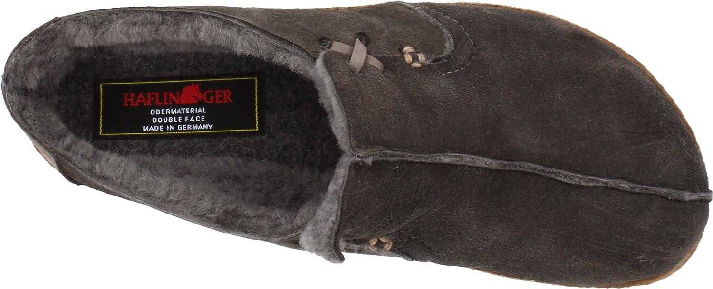 HAFLINGER Saskatchewan Schaffell-Clog, Lammfell-Hausschuhe Unisex-Erwachsene Schaffell-Clog, Saskatchewan Grau Anthrazit dc126e