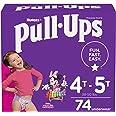 Pull-Ups Girls' Potty Training Pants Training Underwear Size 6, 4T-5T, 74 Ct