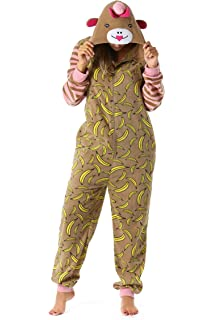 7334124183 Amazon.com  Totally Pink Women s Warm and Cozy Plush Adult Onesies ...