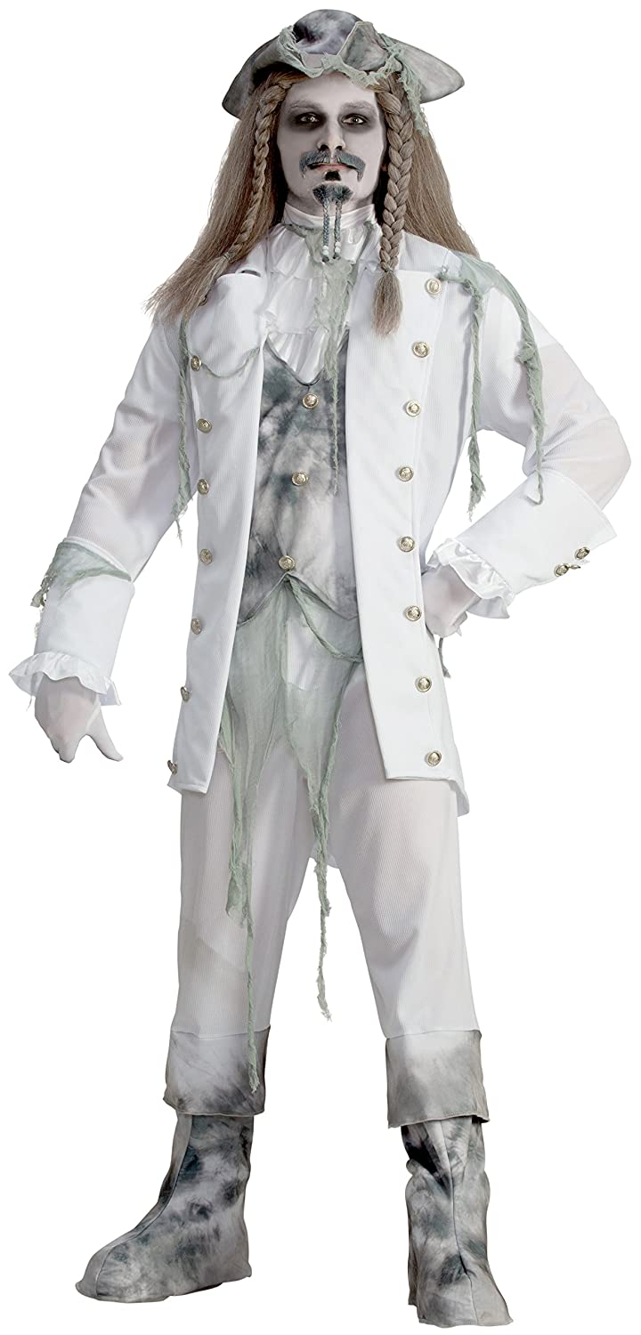 Amazon.com Forum Novelties Menu0027s Ghost Captain Costume White/Gray One Size Clothing  sc 1 st  Amazon.com & Amazon.com: Forum Novelties Menu0027s Ghost Captain Costume White/Gray ...