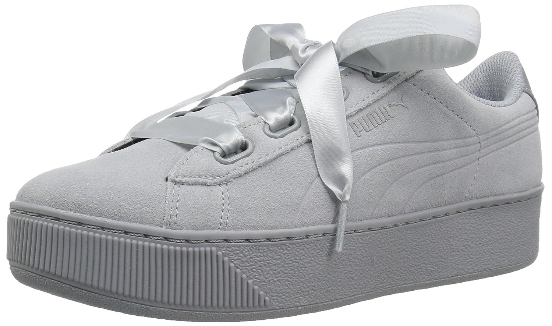 Details zu Puma Vikky Platform Ribbon S leather Sneaker Damen Schuhe 366418 02 grau
