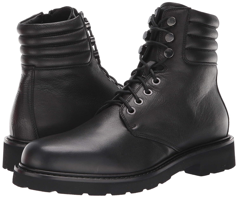 Aquatalia Mens Heath Tumbled Calf Hiking Boot 34M0615-BLK