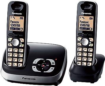 Panasonic KX-TG6522GB - Teléfono Dúo (DECT, Pantalla 1.8