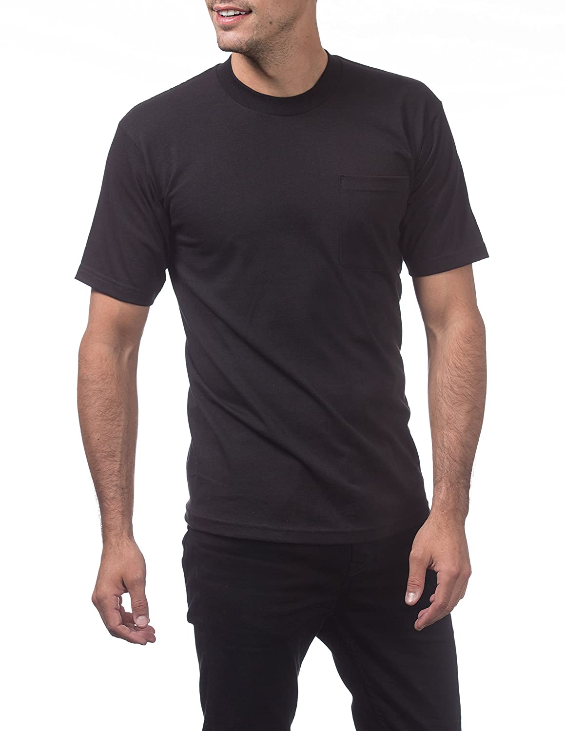 a584d6ca9c3 Pro Club Men s Heavyweight Cotton Short Sleeve Pocket T-Shirt at Amazon Men s  Clothing store