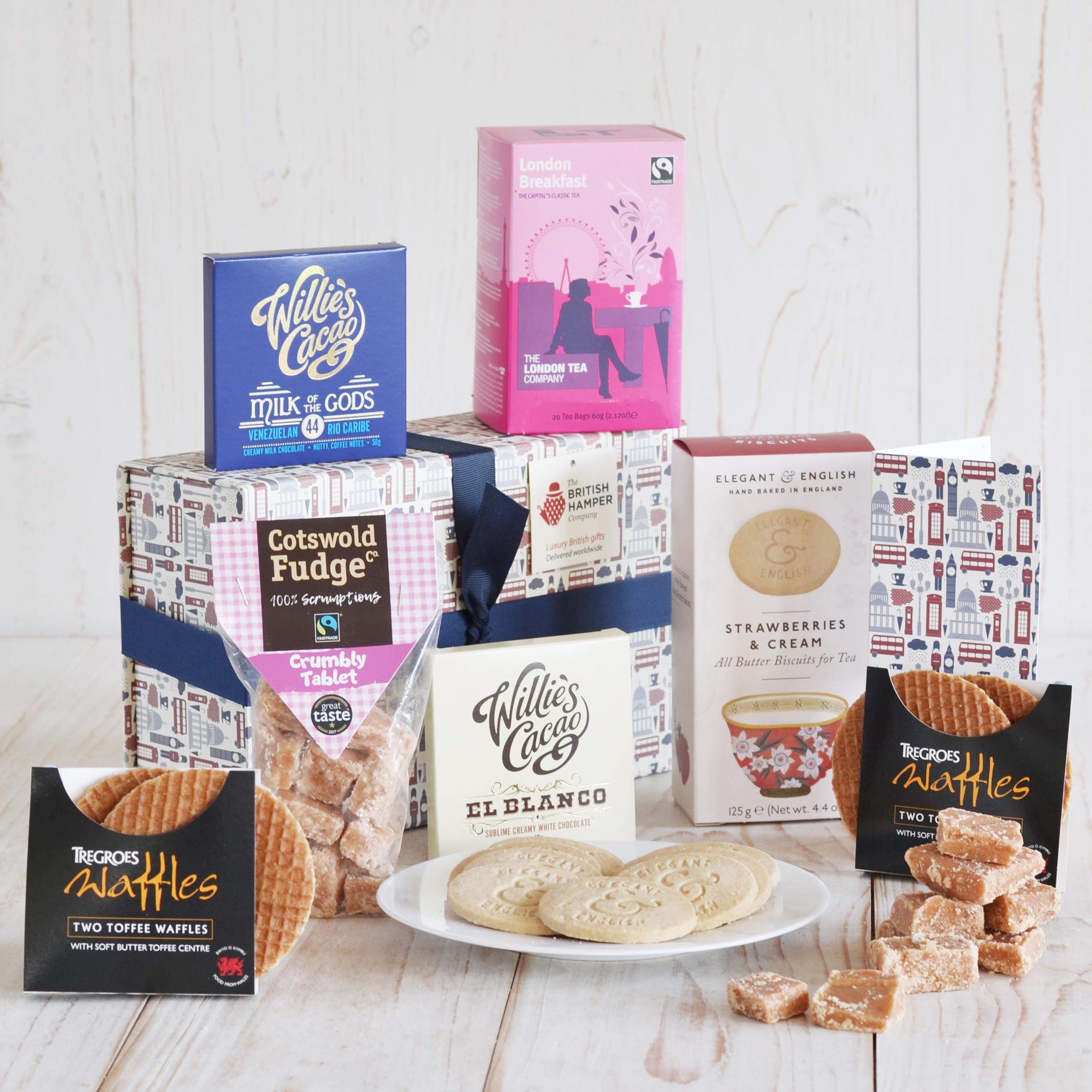 Artisan Tea Time Treats - Gourmet Food Basket - Gift Card Included