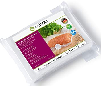 culivac Bolsas de plástico para envasar al vacío Professional de 16 x 23 cm, 100 Bolsas (B16023P)