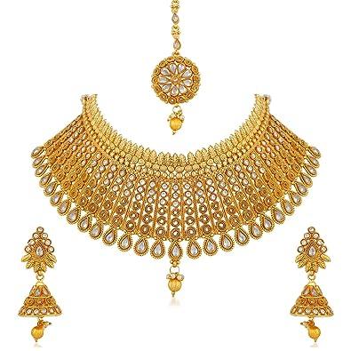 Buy Apara Gold Plated Kundan Jalebi Design Traditional Semi Bridal