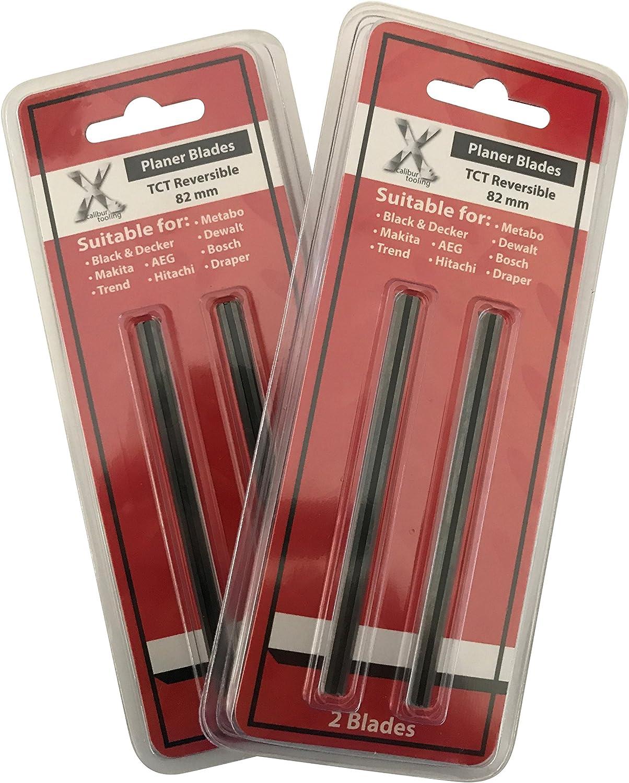 Makita D-07945/ Trend CR//pb29 4/x 82/mm TCT cuchillas de cepilladora para Makita Dewalt Bosch / 2/unidades