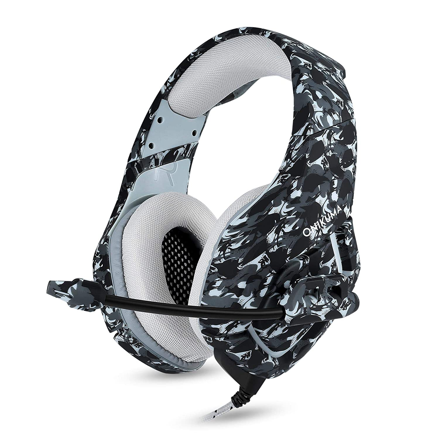 Black Game Headset Camouflage Design