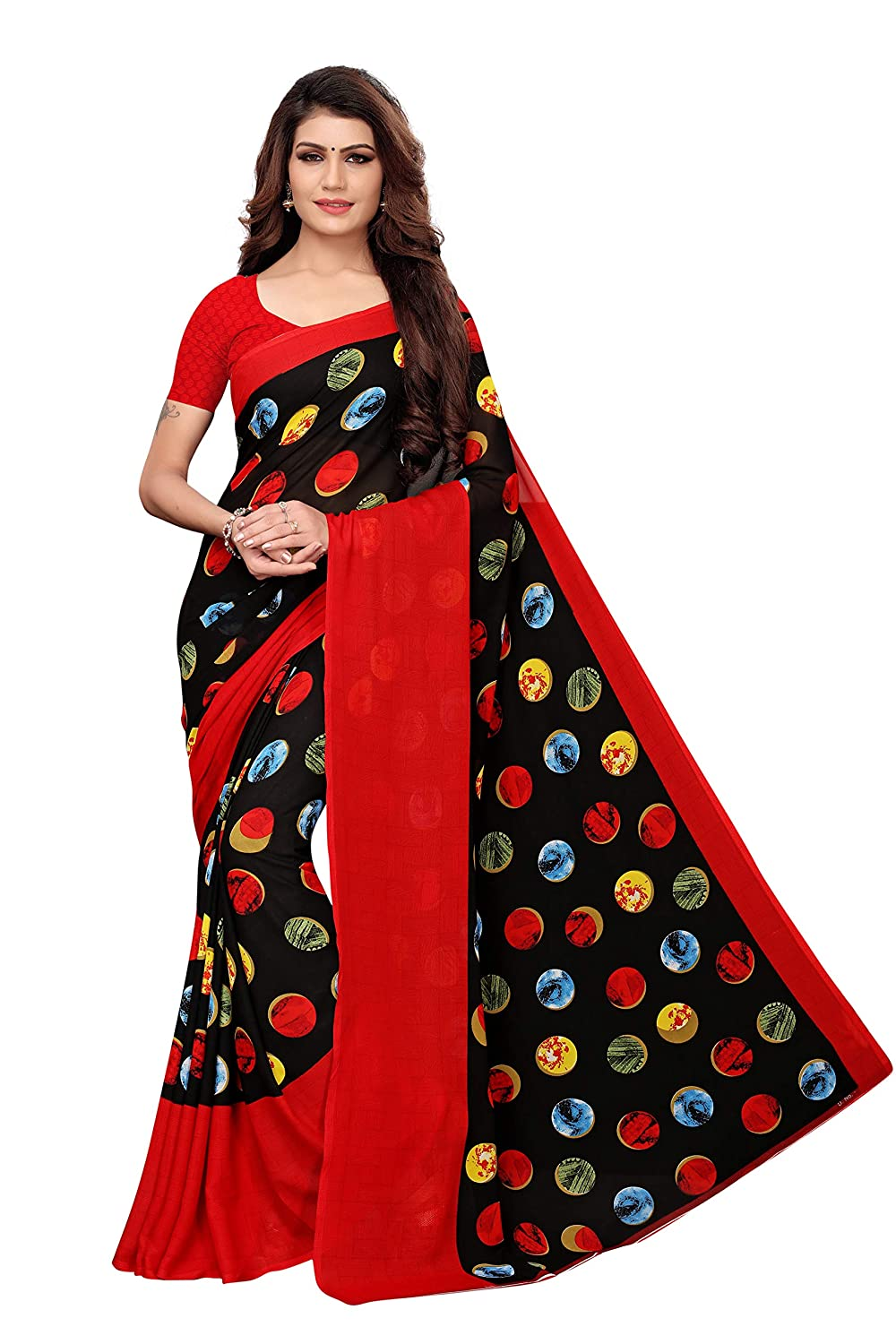 Best Georgette Saree with Blouse Piece