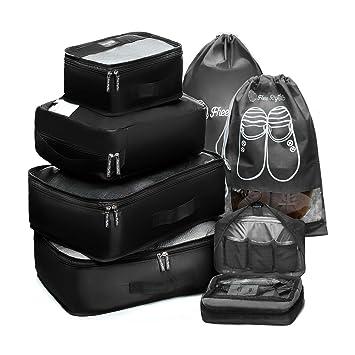 Amazon.com: Juego de 7 cubos de empaque para viaje, 2 de ...