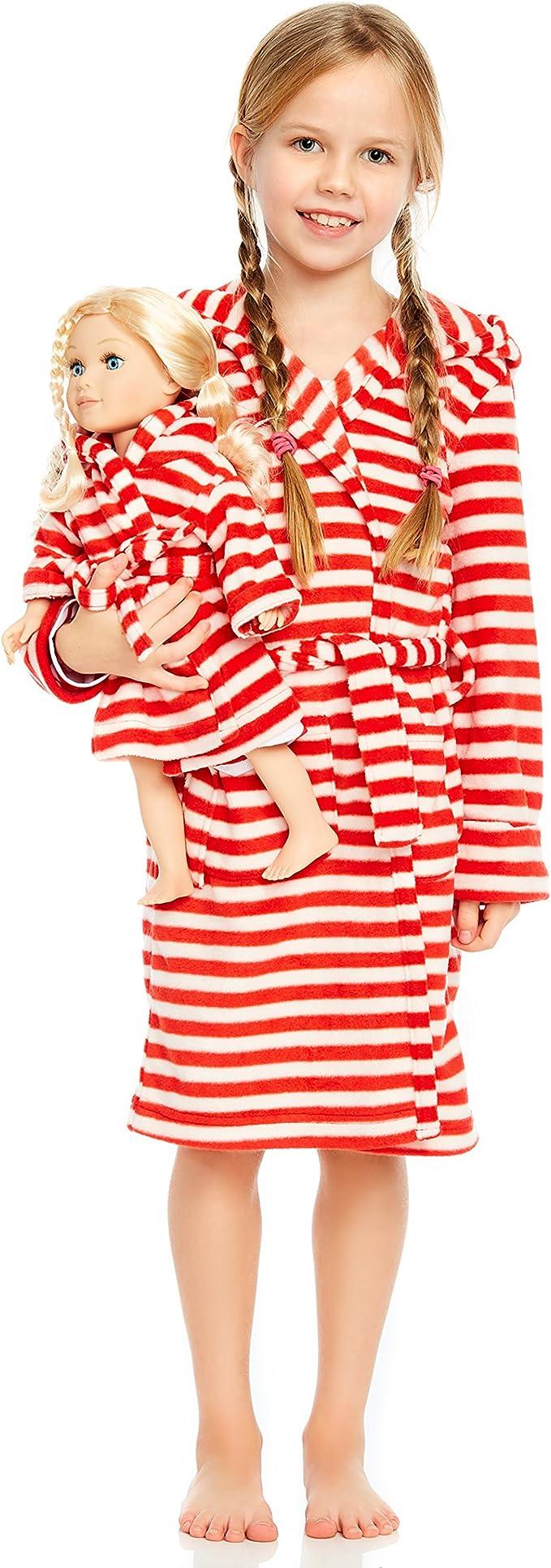 Leveret Boys Girls Red Fleece Sleep Robe Size 2 Toddler - 14Y