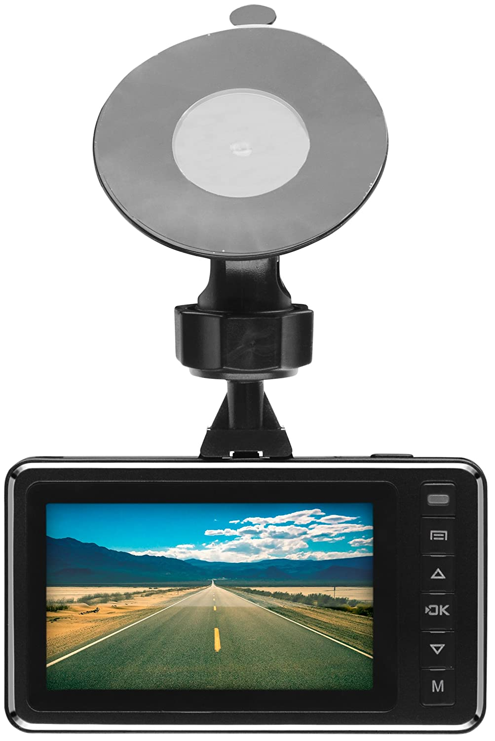 """BOSS Audio BCAM40 Car Dash Cam DVR System – 2.7"""" High Definition LCD Screen, 1080P Recording, Power Adapter And SYNC Cable, Motion Detection, Auto Loop Recording, 110° Wide Angle"""