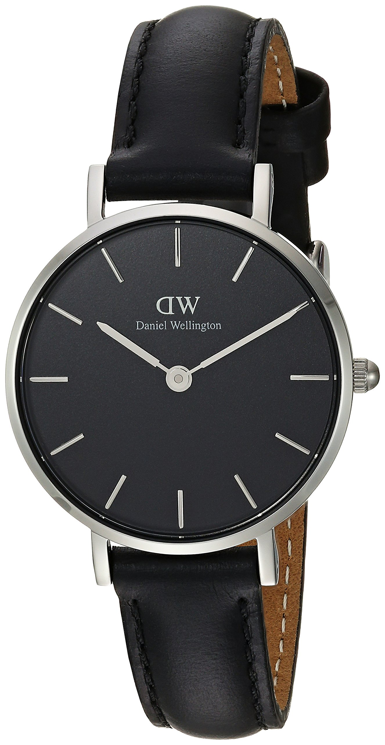 Daniel Wellington 'Classic Petite' Quartz Stainless Steel and Leather Casual Watch, Color:Black (Model: DW00100236) by Daniel Wellington