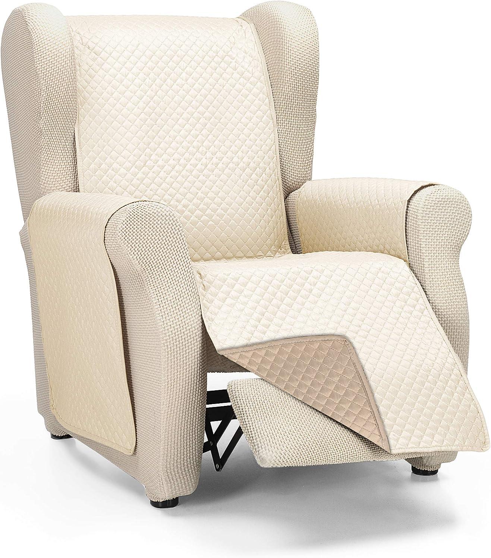 Martina Home Cubre Sofa Acolchado Diamond, Beige - Cuero, 1 Plaza/Relax