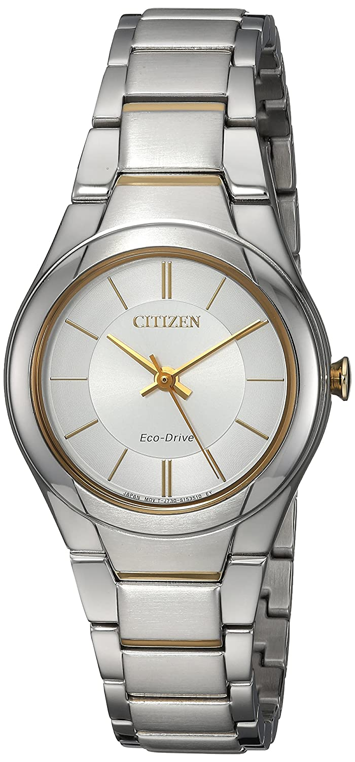 Citizen Women s Eco-Drive Quartz Stainless Steel Casual Watch, Color Two Tone Model FE2094-51A
