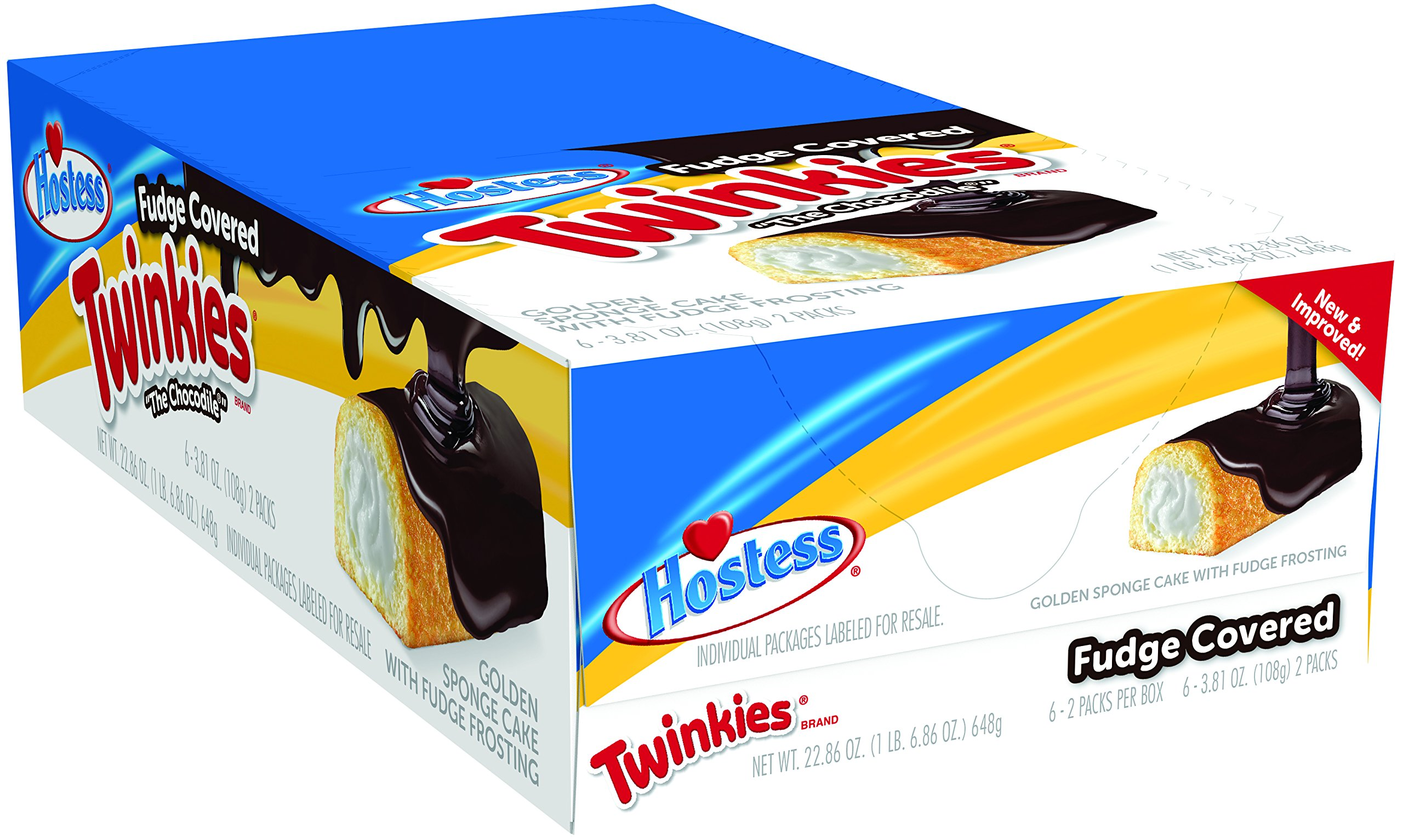 Hostess Twinkies, Fudge Covered, 3.81 Ounce, 6 Count (Pack of 6) by Hostess