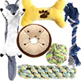 M JJYPET Small Dog Chew Toys,Puppy Teething Toys, No Stuffing and Stuffing Squeaky Toys